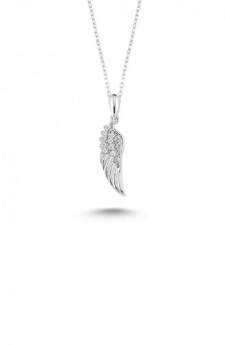 Silver Gray Necklace 13215