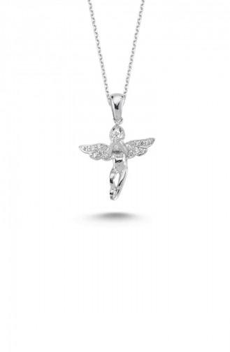 Silver Gray Necklace 5383