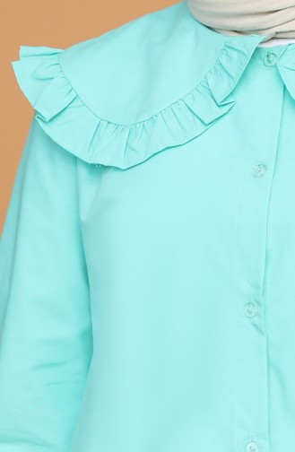 Bebe Yaka Gömlek 5549-04 Mint Yeşili