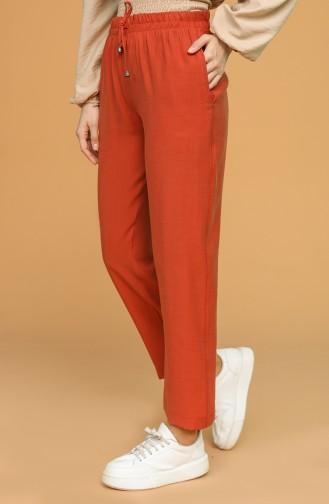 Pantalon Couleur brique 0190B-02