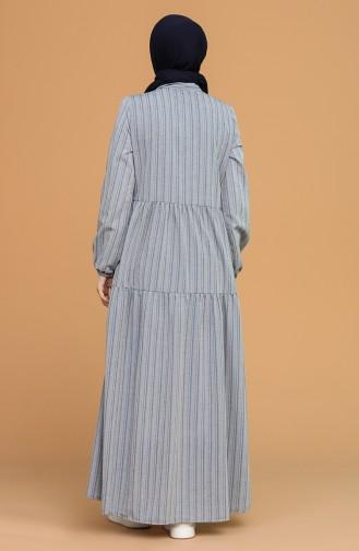 Robe Hijab Bleu Marine 1594-09