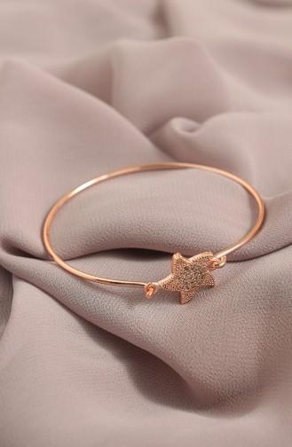 Yıldız Figürlü Zirkon Taşlı Kelepçe KLÇ003-02 Rose