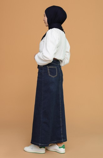 Jupe Bleu Jean 3502-01