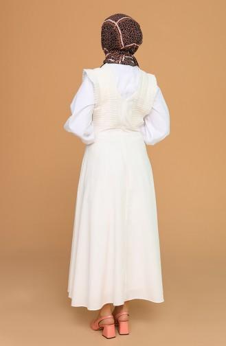 Cream Gilet 0629-06