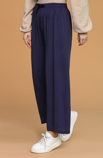 Pantalon Bleu Marine Foncé 4432-01