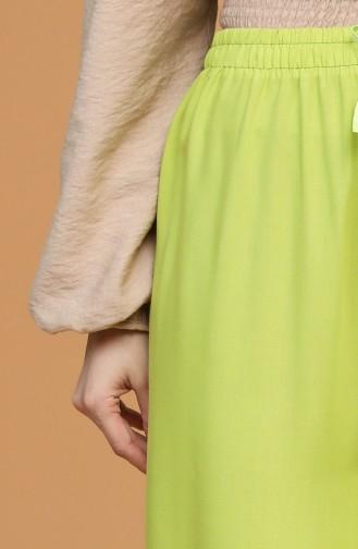 Beli Lastikli Bol Paça Pantolon 4435-15 Neon Yeşili