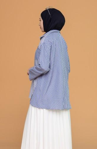 Oversize Gömlek 3282-03 Saks