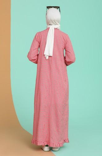 Robe Hijab Rouge 5009-03