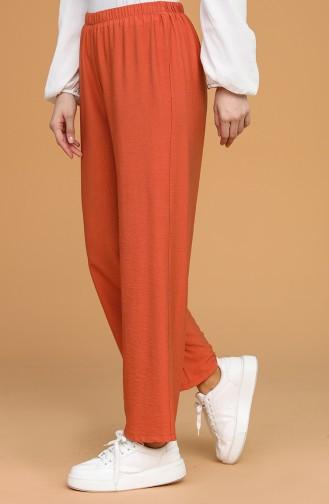Pantalon Couleur brique 0633-07