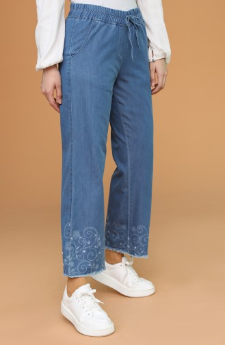 Jeansblau Hose 0068-02