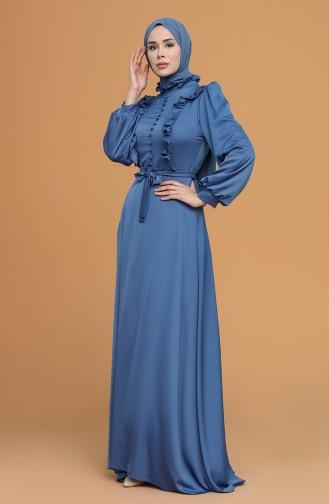 Habillé Hijab Indigo 4873-05