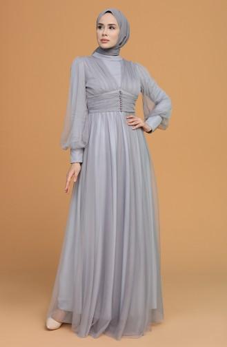 Habillé Hijab Gris 5478-08