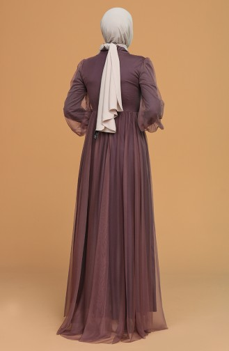 Dunkel-Rose Hijab-Abendkleider 5478-11