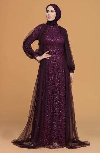 Zwetschge Hijab-Abendkleider 5519-07