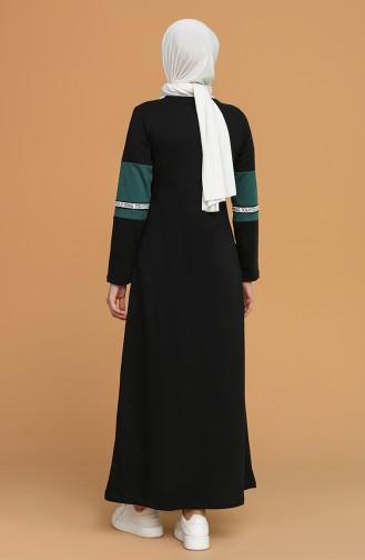 Black Hijab Dress 50102-01