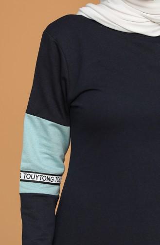 Robe Hijab Bleu Marine 50102-02