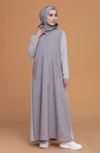 Gray Hijab Dress 3281-03