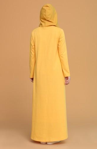 Robe Hijab Jaune 3281-05