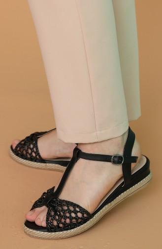 Black Summer Sandals 100-02