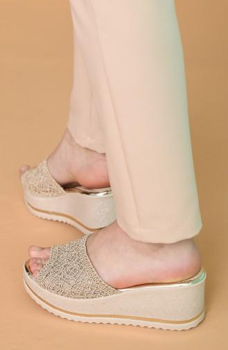 Beige Summer Slippers 500SD-03
