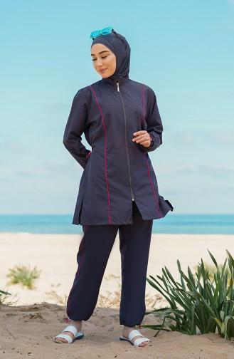 Maillot de Bain Hijab Antracite 212011-02
