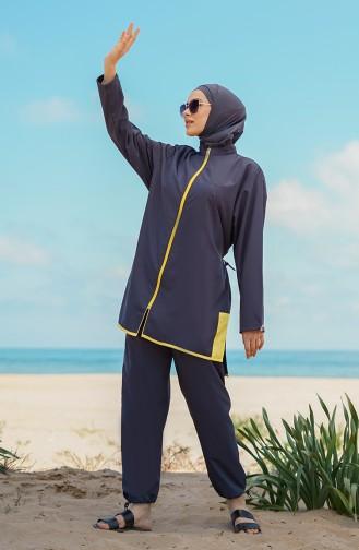 Anthrazit Hijab Badeanzug 21225-02