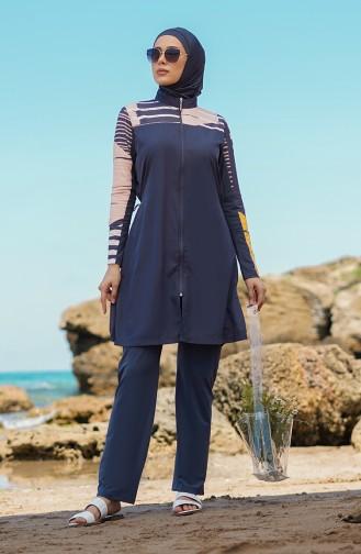 Anthrazit Hijab Badeanzug 21402-02