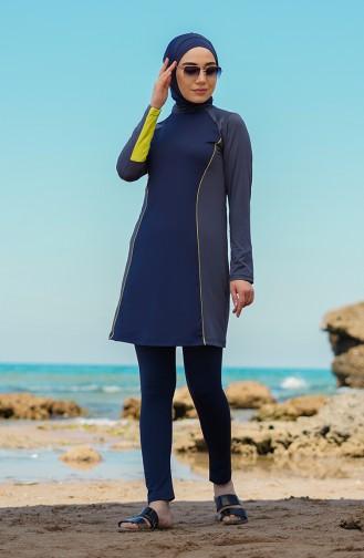 Anthrazit Hijab Badeanzug 21615-03