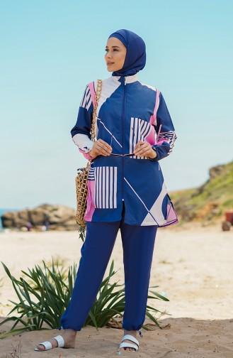 Indigo Swimsuit Hijab 21227-03