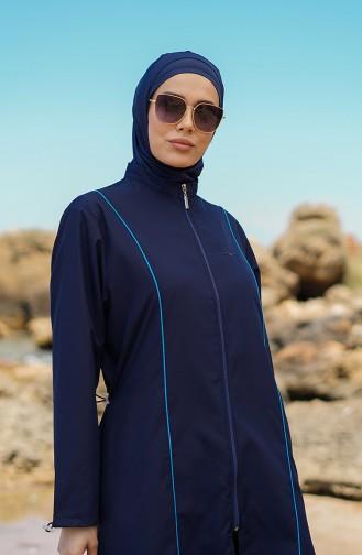 Navy Blue Modest Swimwear 212011-01