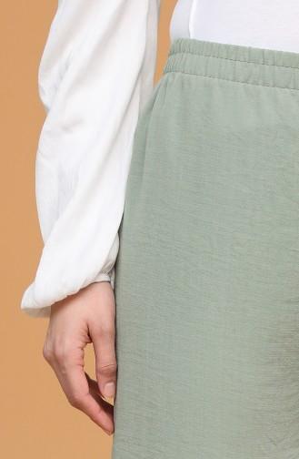 Beli Lastikli Bol Paça Pantolon 4445-07 Su Yeşili