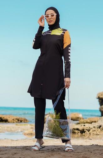 Black Swimsuit Hijab 21402-03