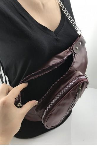 Claret red Belly Bag 001171.BORDO