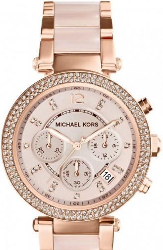 Rose Tan Wrist Watch 5896