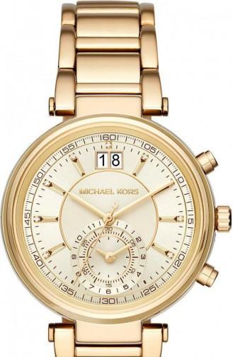 Gold Colour Horloge 6362