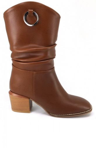 Tan Boots-booties 7426