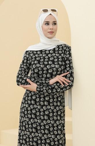 Black İslamitische Jurk 8900-01