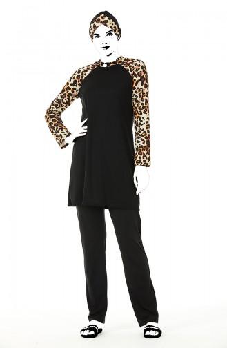 Black Modest Swimwear 0212-01