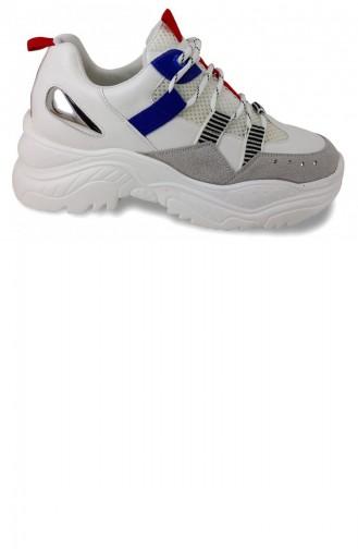 316 5 Guja Günlük Bayan Ayakkabı-Kırmızı Beyaz