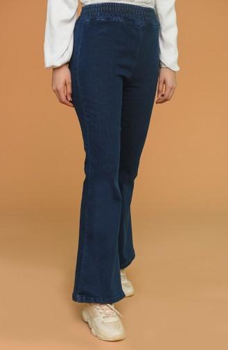 İspanyol Paça Kot Pantolon 7507-01 Lacivert