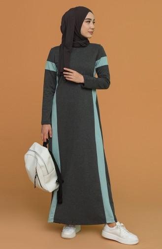 Smoke-Colored Hijab Dress 50103-06