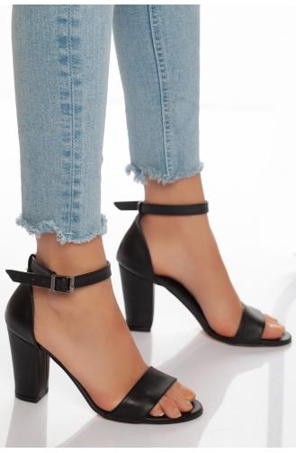 Chaussures a Talons Noir 35-01