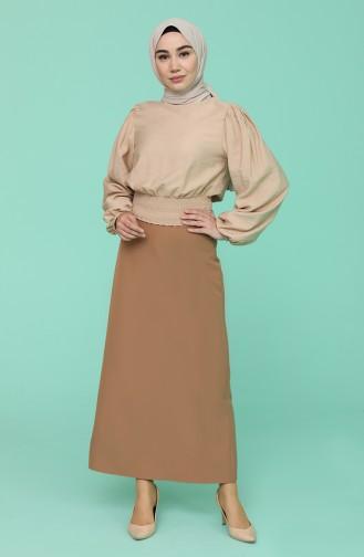 Milk Coffee Skirt 2223-10