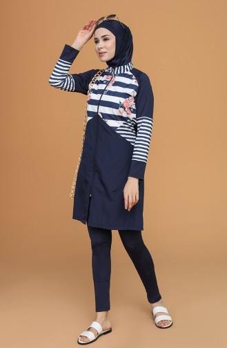 Navy Blue Swimsuit Hijab 21408-02