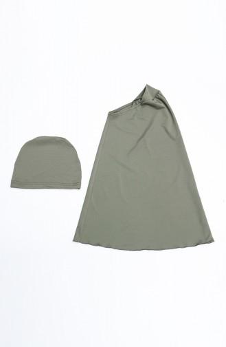 Khaki Swimsuit Hijab 21412-01