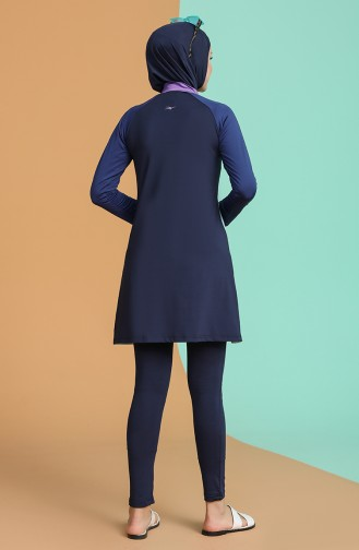 Navy Blue Swimsuit Hijab 21605-02