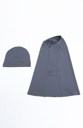 Anthracite Modest Swimwear 21606-01