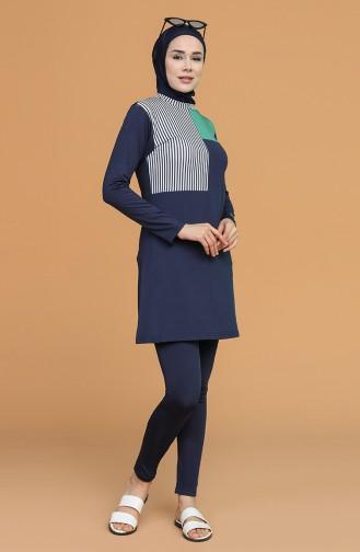 Navy Blue Swimsuit Hijab 21606-03