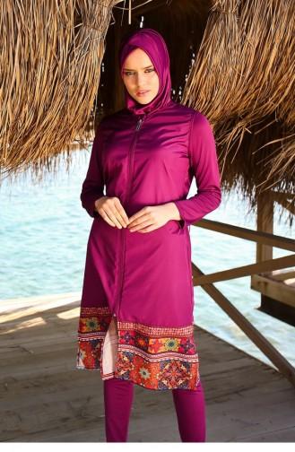 Maillot de Bain Hijab Plum 105
