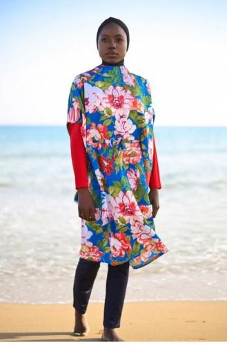 Navy Blue Swimsuit Hijab 59